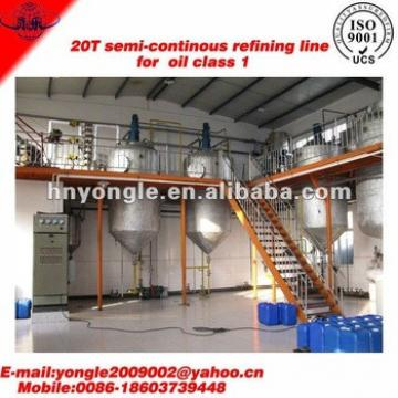 Good quality and service for crude jatropha oil refinery machine for sale